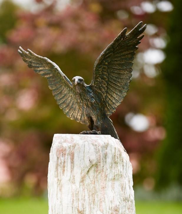 Bronzefigur Roter Milan Flügel offen 45 Bronze Gartenfigur Rottenecker