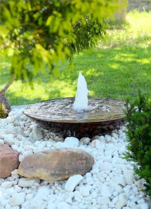 Wasserspiel SET Cortenstahl Wasserschale 80 Gartenbrunnen Edelrost Design