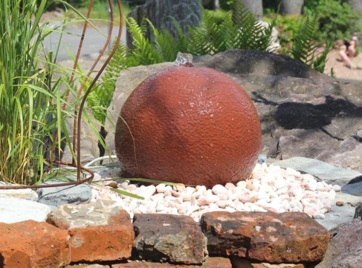 Wasserspiel set quellstein sandstein kugel 50 gartenbrunnen sprudelstein 100800011 for Gartenbrunnen kugel