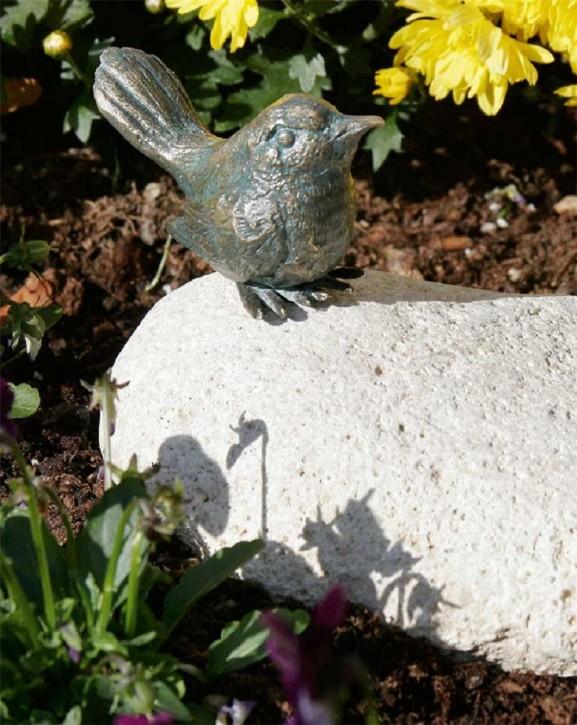 Bronzefigur Vogel sitzend 6cm Bronze Skulptur Rottenecker