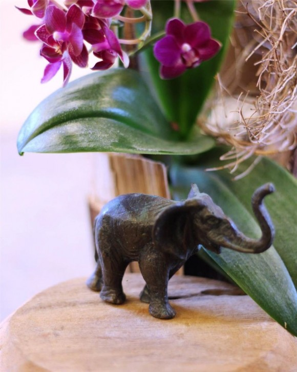Bronzefigur Elefant 8cm | Bronze Skulptur Rottenecker