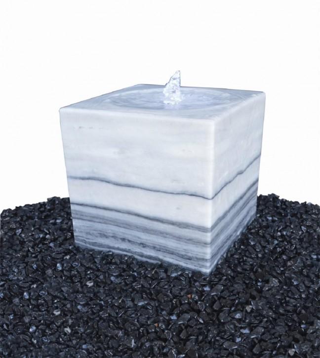 Wasserspiel SET Quellstein Marmorwürfel 50cm Gartenbrunnen inkl. Pumpe