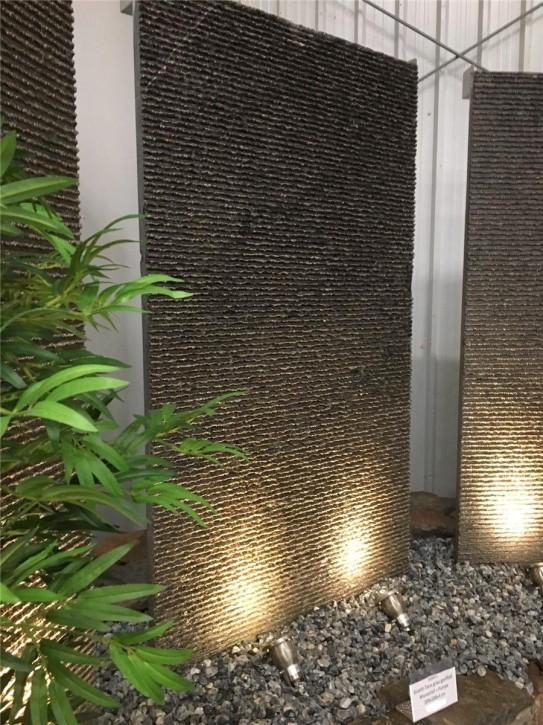 Wasserspiel SET Wasserwand 170 cm Gartenbrunnen Blaustein Taco Granit Optik