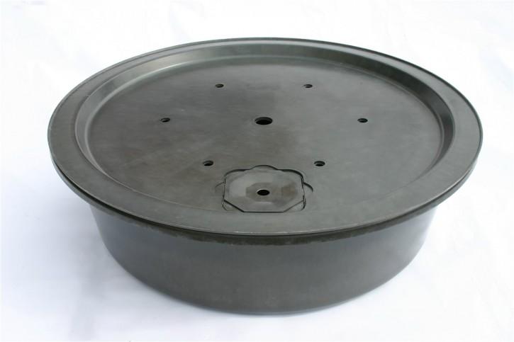 Fiberglas GFK Becken mit Deckel Ø 120 cm 280 L inkl. Stütze für Quellsteine Wasserspiele