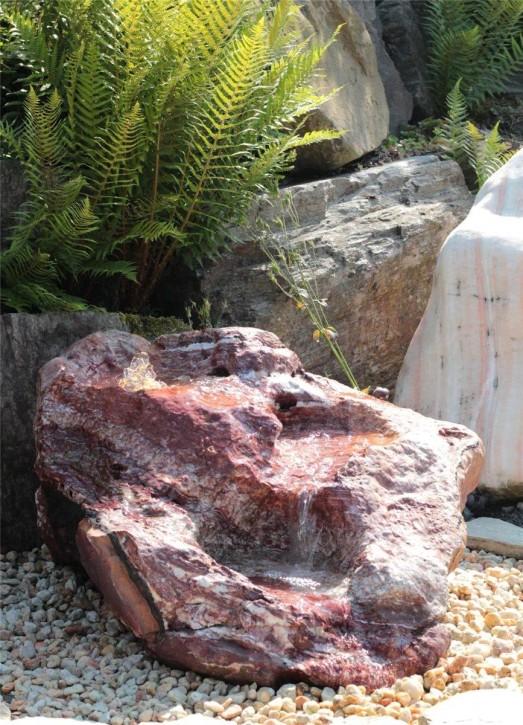 Wasserspiel SET Quellstein Bachlauf L100cm Onyx Marmor Gartenbrunnen