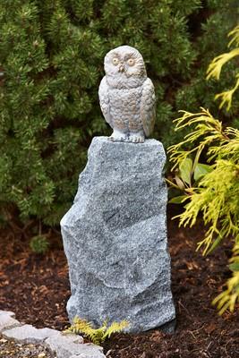 Bronzefigur Baby Schnee-Eule   Dekoration aus Bronze für Heim und Garten