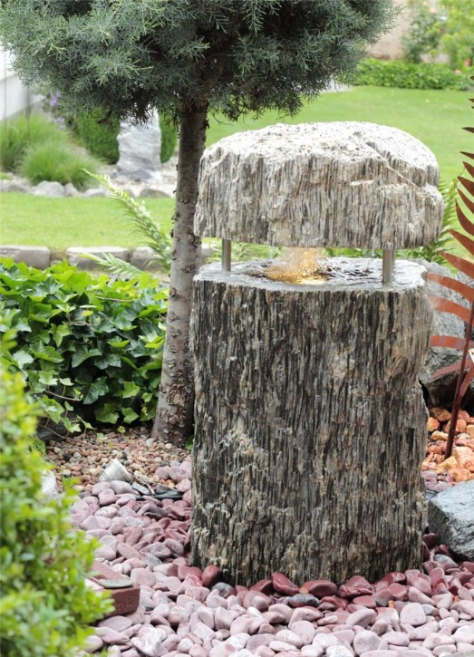 Wasserspiel SET Quellstein Gneis 100cm Quellsteinbrunnen Gartenbrunnen