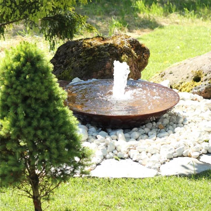 Wasserspiel SET Cortenstahl Wasserschale 60 Gartenbrunnen Edelrost Design
