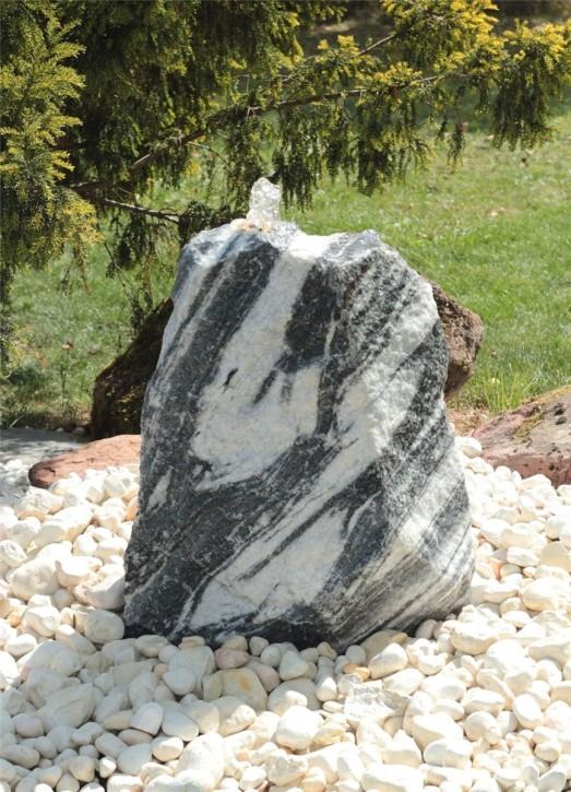 Wasserspiel SET Quellstein Marmor 66cm Gartenbrunnen Springbrunnen Komplettset