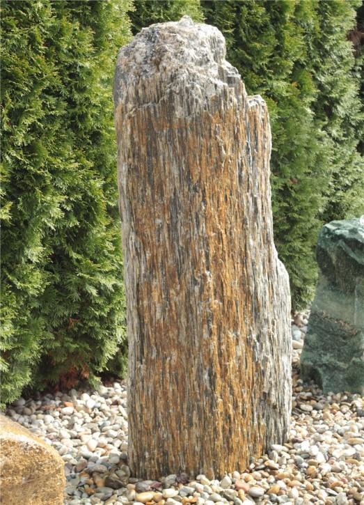 Quellstein Monolith Gneis 130cm Gartenbrunnen Springbrunnen Komplettset