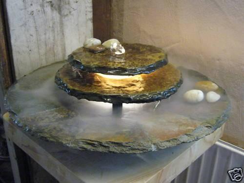 AKTIONSPREIS! Zimmerbrunnen Kasumi mit Nebler   Feng Shui Schieferbrunnen inkl. Beleuchtung