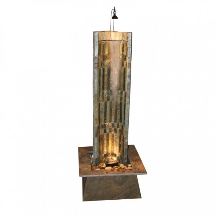 NUR ABHOLUNG! Zimmerbrunnen Oasis 130 | Wasserwand Schieferbrunnen inkl. Beleuchtung