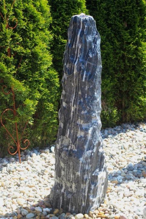 Wasserspiel SET Quellstein Monolith 117cm Marmor Black Angel Gartenbrunnen