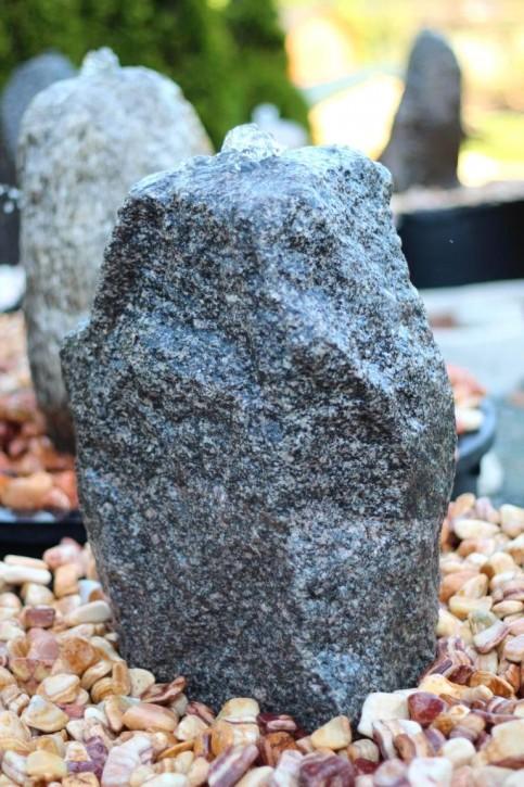 Wasserspiel SET Quellstein Granit anthrazit 52cm Gartenbrunnen inkl. Pumpe