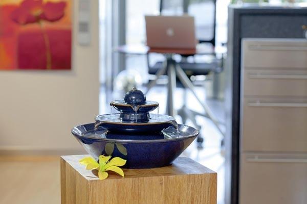 AUSSTELLUNGSSTÜCK - NUR ABHOLUNG! Zimmerbrunnen Pisa blau | Feng Shui Keramikbrunnen
