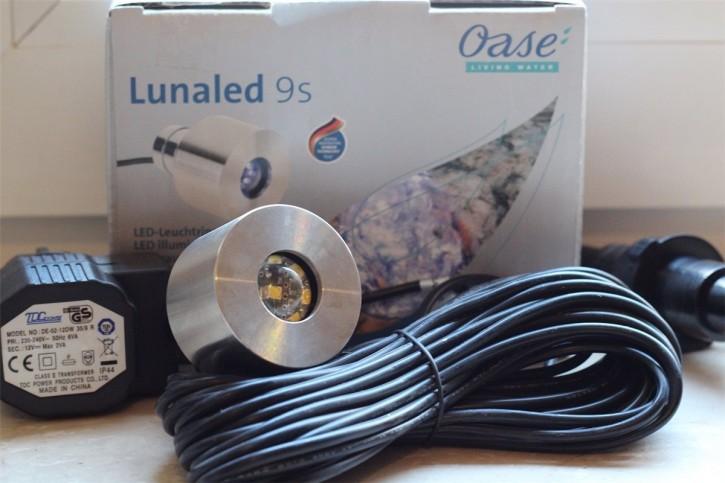 OASE LunaLed 9 s | 9 LED weiß Beleuchtung für Wasserspiele, Zierbrunnen und Quellsteine