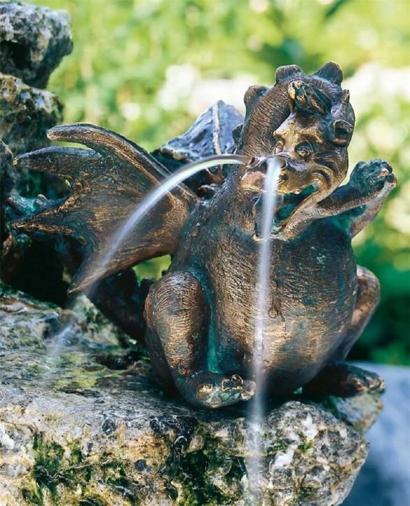 Bronzefigur Drache Missy 14 | Bronze Gartenfigur Wasserspeier von Rottenecker