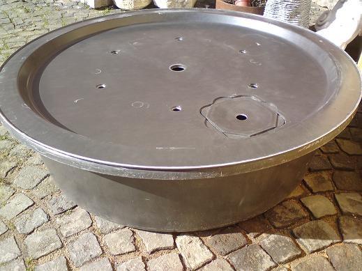 Fiberglas GFK Becken mit Deckel Ø120x33 | Pumpe Aquarius Universal Eco 3000