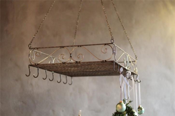 Kräutertrockner Küchenablage aus Eisen in Shabby-Chic & Vintage Lebensart