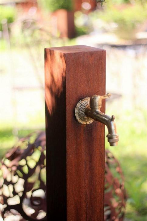 Zapfstelle Cordon 100 Original inkl. Wasserhahn Cortenstahl Wasserzapfstelle für Garten