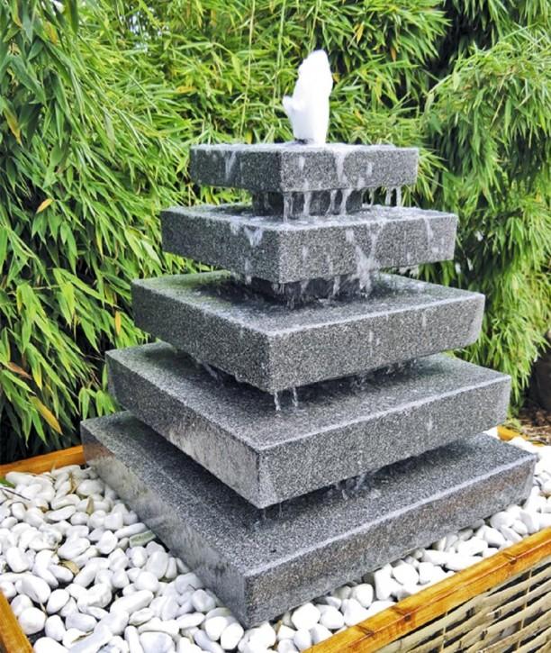 wasserspiel set quellstein pyramide 80cm granit gartenbrunnen inkl pumpe 628 set. Black Bedroom Furniture Sets. Home Design Ideas