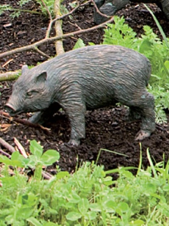 Gartenfigur Frischling Wildschwein L29cm | Bronze Skulptur von Rottenecker