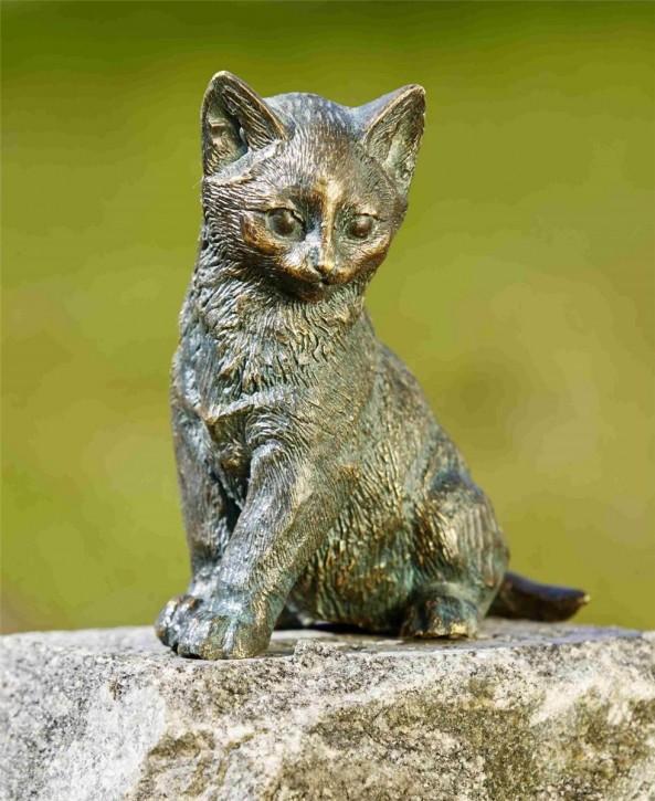Bronzefigur Junge Katze Loona 13cm Bronze Skulptur Rottenecker