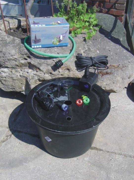 pe becken mit gfk deckel 45x30 pumpe oase aquarius universal 600 led 1001001666. Black Bedroom Furniture Sets. Home Design Ideas