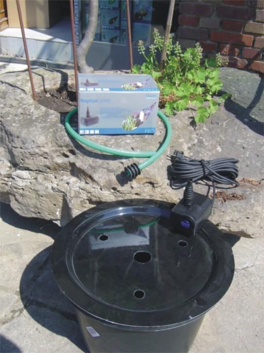 pe becken mit gfk deckel 45cm pumpe oase aquarius universal 600 1001001645. Black Bedroom Furniture Sets. Home Design Ideas