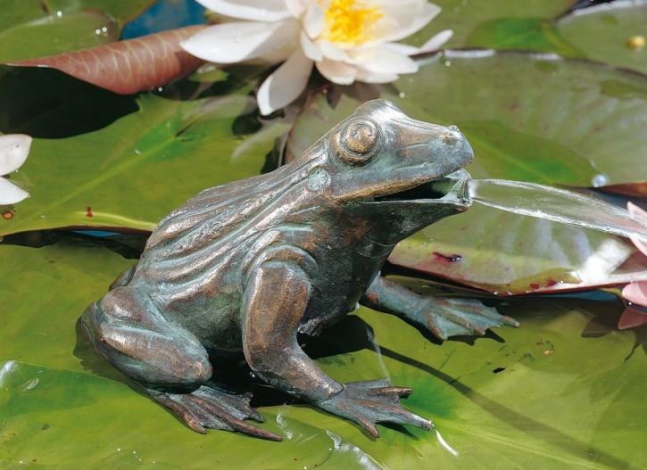 Bronzefigur Frosch 11cm Bronze Teichfigur Wasserspeier von Rottenecker