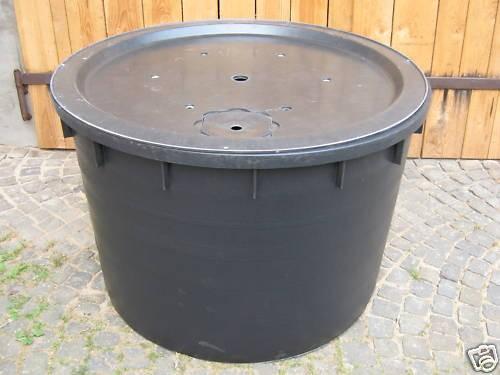 PE Becken mit GFK Deckel Ø120x80 | Pumpe Oase Aquarius Universal Eco 3000 | Zubehör