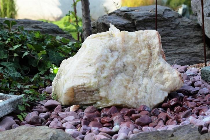 Wasserspiel SET Quellstein Onyx Marmor 40cm Gartenbrunnen inkl. Pumpe