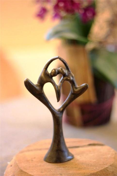 Bronzefigur Herzduett 14cm | Bronze Herz Skulptur Rottenecker
