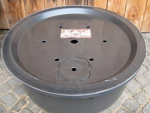 PE Becken mit GFK Deckel Ø 90 cm 150 Liter für Quellsteine Wasserspiele Zierbrunnen
