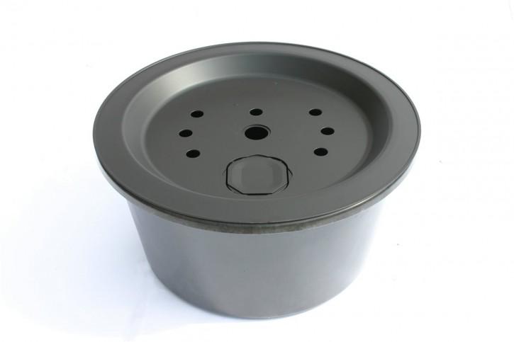 Fiberglas GFK Becken mit Deckel Ø 66 cm 80 Liter für Quellsteine Wasserspiele