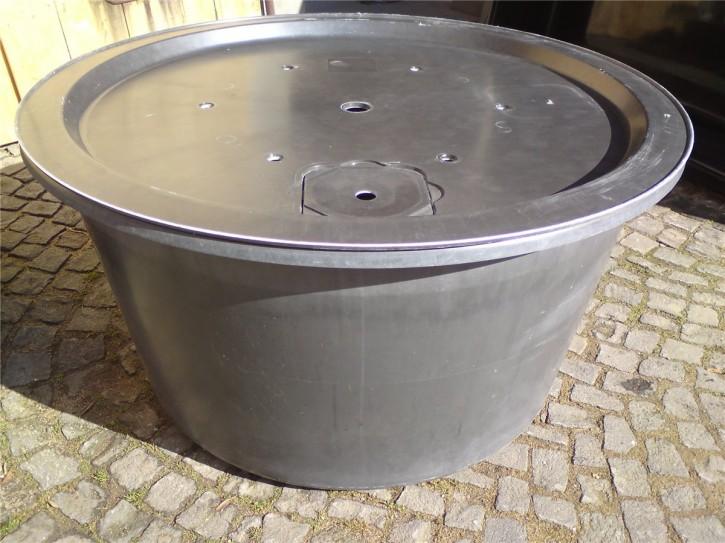 Fiberglas GFK Becken mit Deckel Ø 120 cm 450 L für Quellsteine Wasserspiele Zierbrunnen