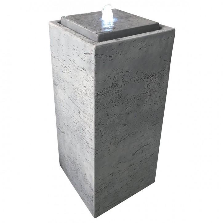 Brunnen Pilla 75 grau inkl. Pumpe und LED Luftbefeuchter modern