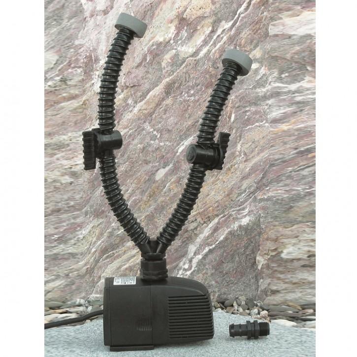 Pumpenset 2 inkl. Schlauch 1500l, 25W für Wasserspiel Quellstein Brunnen