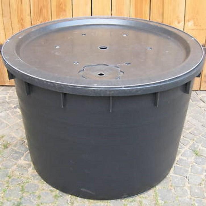 PE Becken mit GFK Deckel Ø 120x80 cm 750 Liter für Quellsteine Wasserspiele Bachlauf