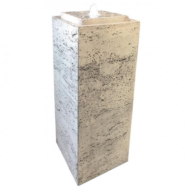 Brunnen Pilla 75 weiß inkl. Pumpe und LED Luftbefeuchter modern