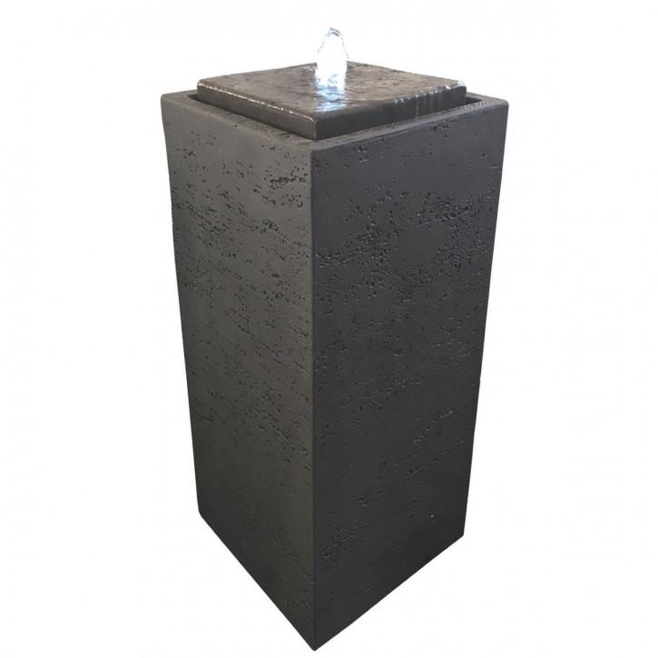 Brunnen Pilla 75 braun inkl. Pumpe und LED Luftbefeuchter modern