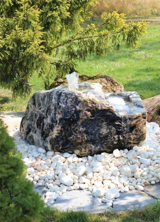 Wasserspiel SET Quellstein Bachlauf L90cm Marmor Artik green Gartenbrunnen