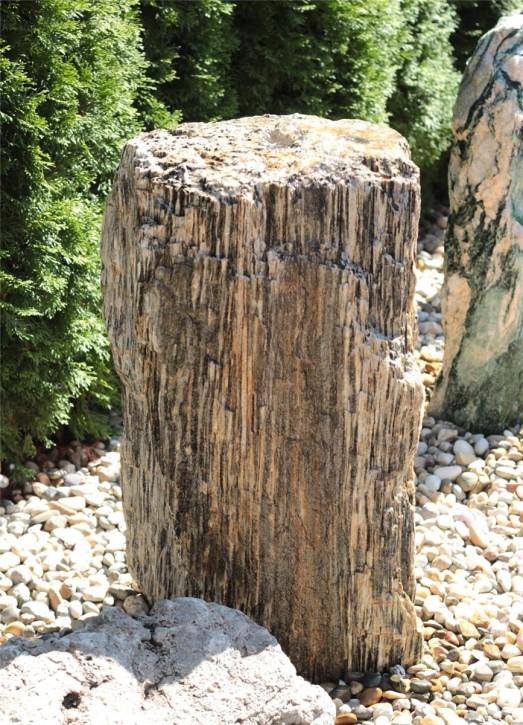 Wasserspiel SET Quellstein Monolith 80cm Gneis Gartenbrunnen Springbrunnen