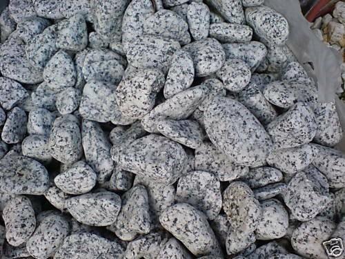 20kg (1,345 €/kg) Gletscher Granit edelgrau Ziersteine, gerundet 10-20mm