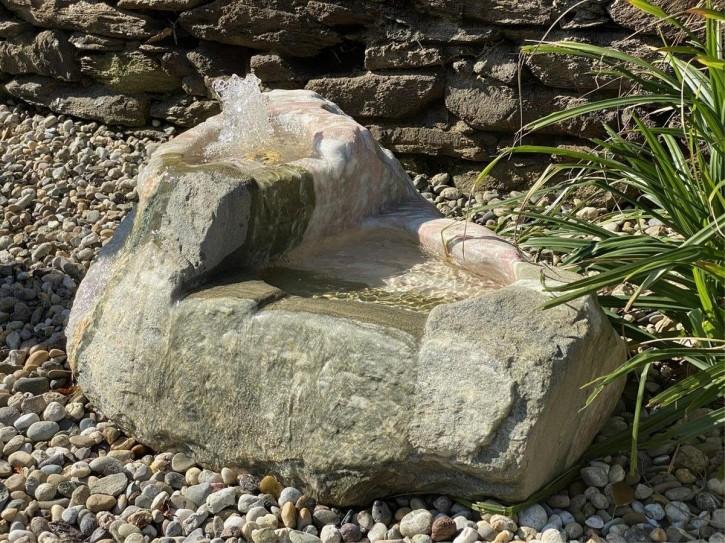 Quellstein Marmor L90cm Norwegisch Pink Bachlauf Gartenbrunnen Springbrunnen Komplettset