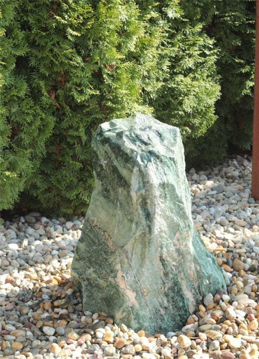 Quellstein Marmor Artik green 60cm Gartenbrunnen Springbrunnen Komplettset