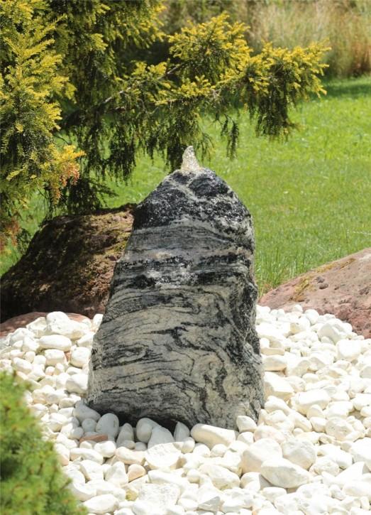 Quellstein Gneis 60cm Gartenbrunnen Springbrunnen Komplettset
