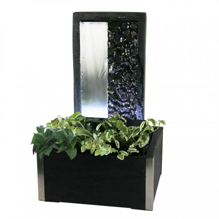 AUSSTELLUNGSSTÜCK! Zimmerbrunnen Forana 32 Wasserwand inkl. Beleuchtung und Pflanzvorrichtung