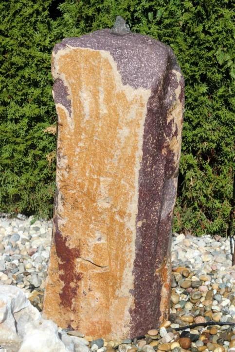 Wasserspiel SET Quellstein Monolith 90cm Porphyr Gartenbrunnen inkl. Pumpe