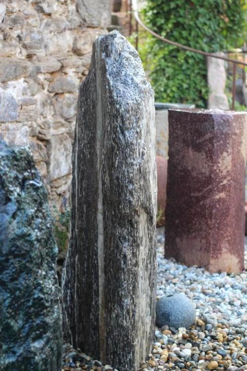 Wasserspiel SET Quellstein Monolith 140cm Gneis Gartenbrunnen inkl. Pumpe